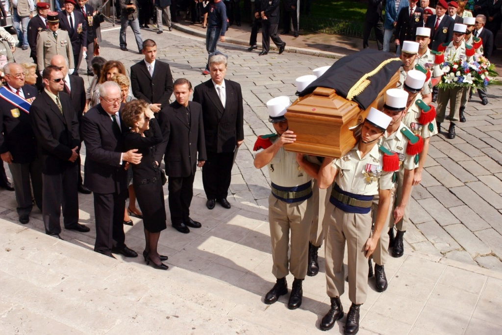 Photo de funérailled'un officier légionnaire,mais sonnom? Lm10