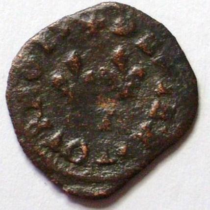 Denier Henri III sd F légende presque complète 3550a_10