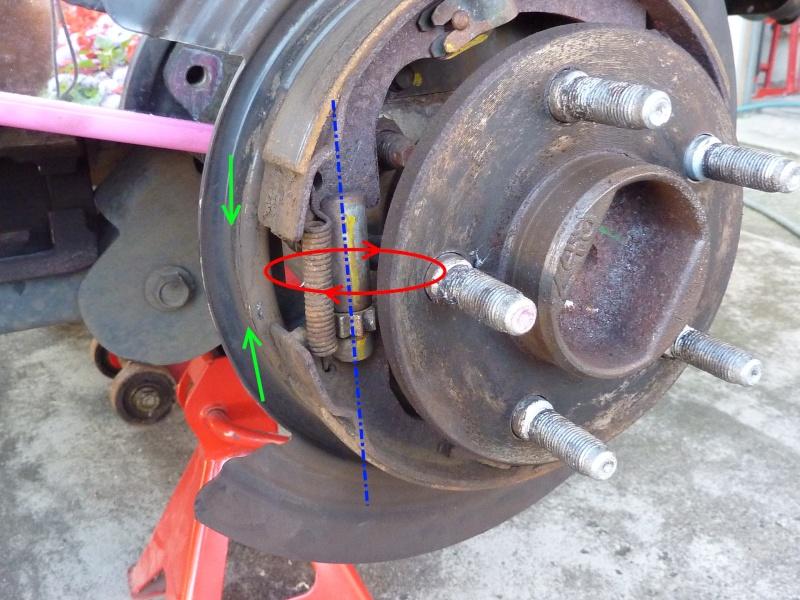 Frein à main - nettoyage mécanisme commande (sans demontage) P1060112