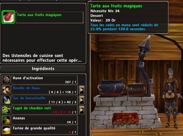 """Pour les Healers et DPS """"magiques"""" : Coût en mana Mana10"""
