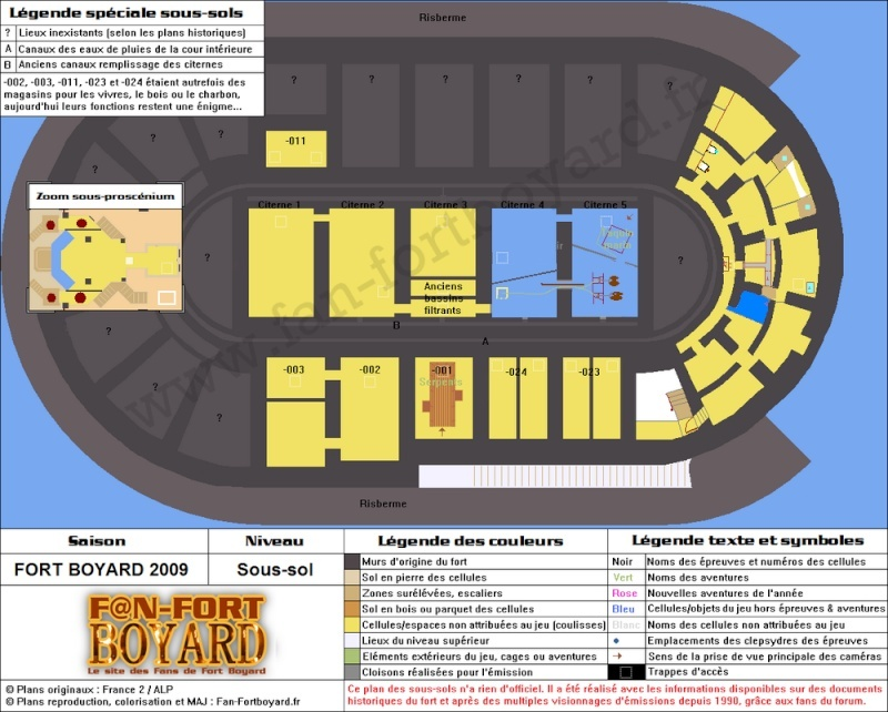 Réalisation du plan des souterrains de Fort Boyard (version 2010) Fort-b17