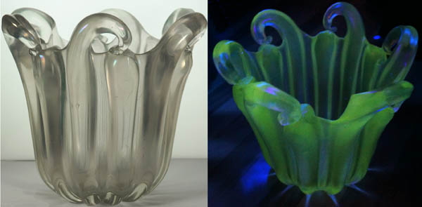 Need Help with ID of Large Blown Glass Vase that Fluoresces Myster10