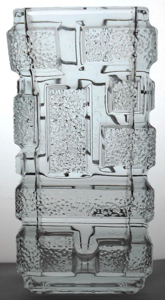 Molded Scandinavian Glass Vase - Maker? Scandi10