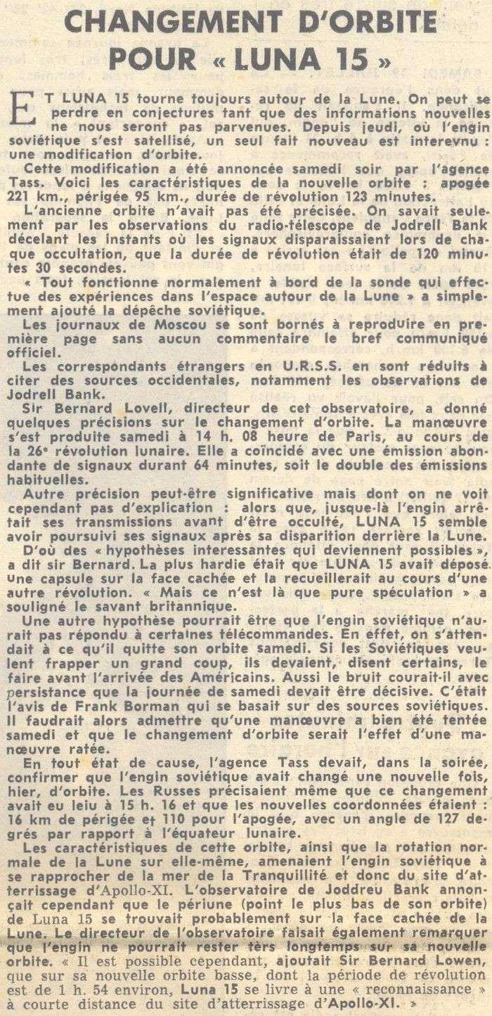 13 juillet 1969 - Luna 15, le joker soviétique 69072110