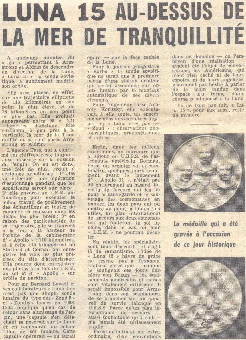 13 juillet 1969 - Luna 15, le joker soviétique 69072112