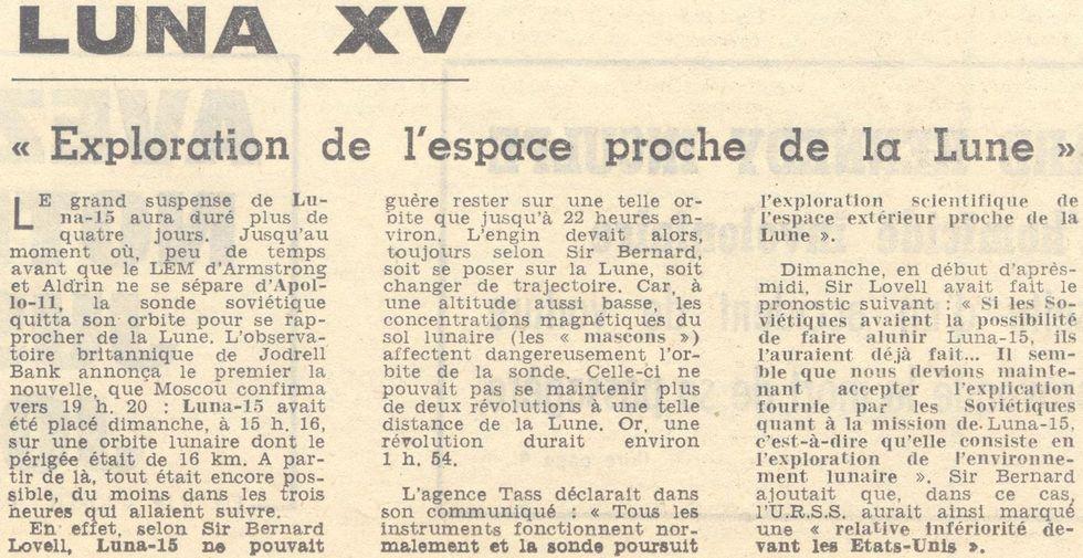 13 juillet 1969 - Luna 15, le joker soviétique 69072114