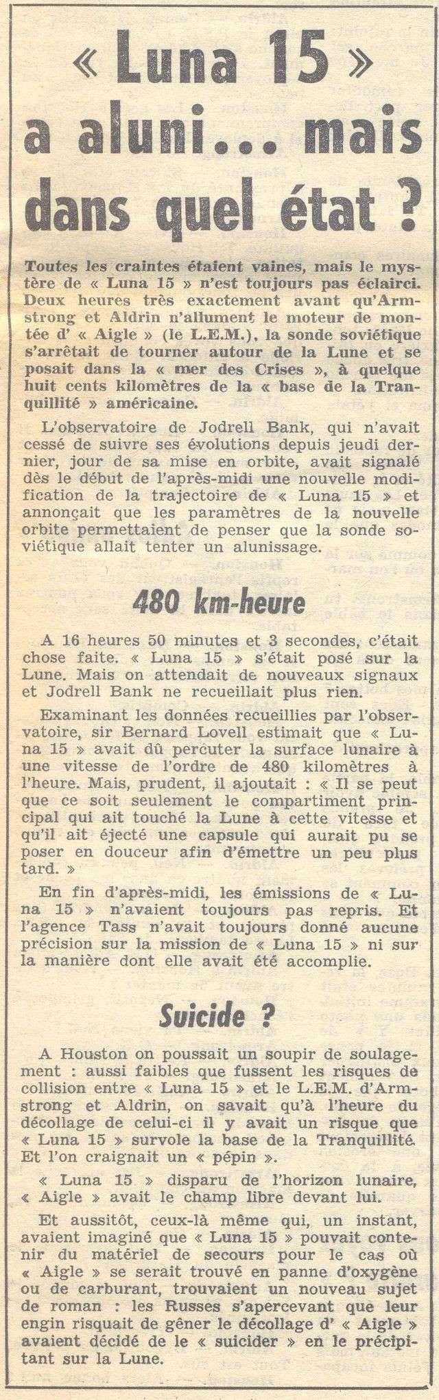 13 juillet 1969 - Luna 15, le joker soviétique 69072211