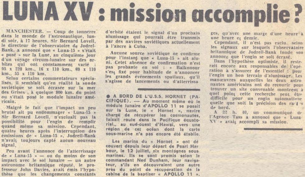 13 juillet 1969 - Luna 15, le joker soviétique 69072212