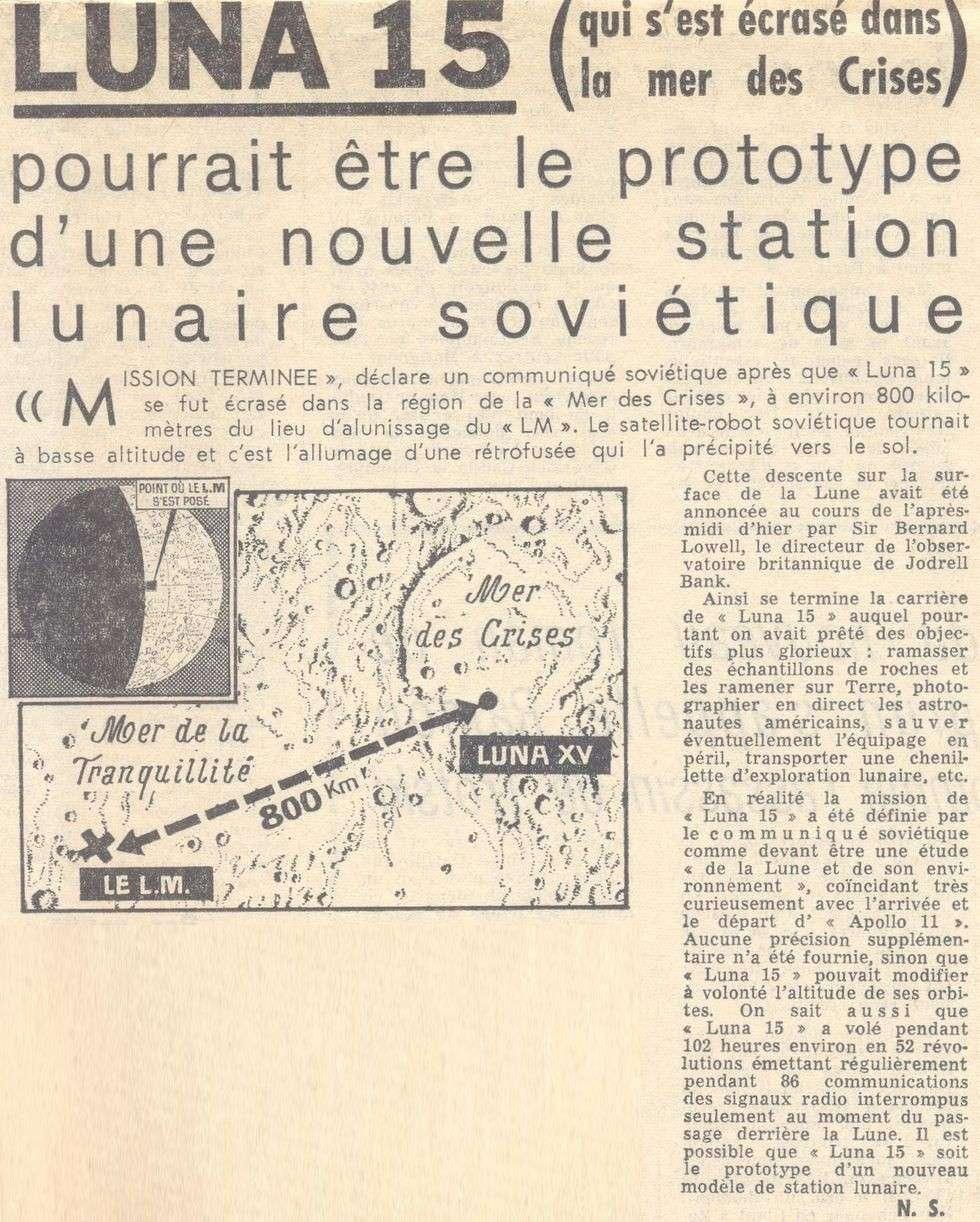 13 juillet 1969 - Luna 15, le joker soviétique 69072310