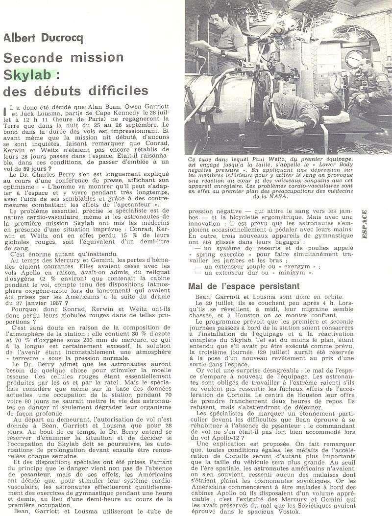 14 mai 1973 - Skylab - Seule station spatiale américaine - Page 2 73090810
