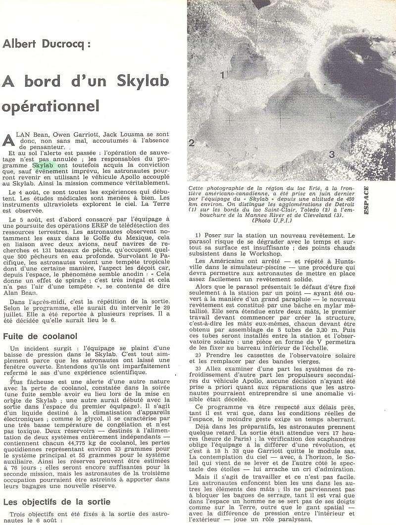 14 mai 1973 - Skylab - Seule station spatiale américaine - Page 2 73091510