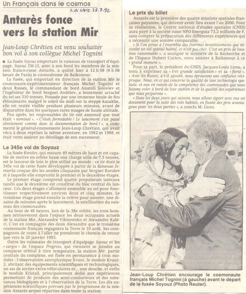 Michel Tognini - 3ème Français dans l'espace 92072810