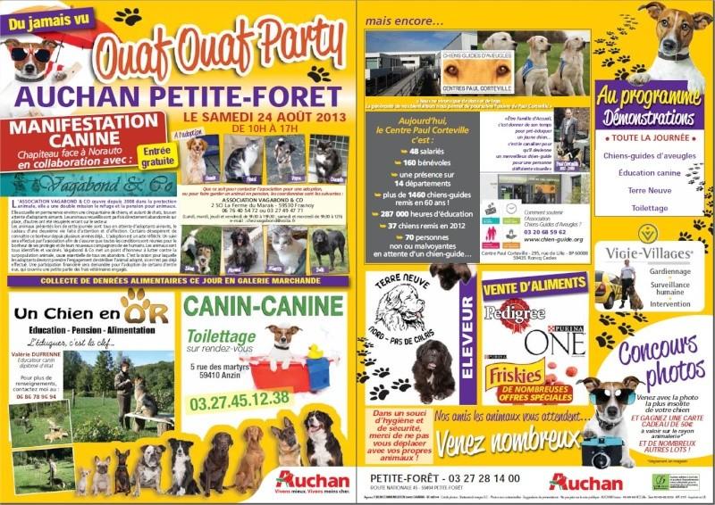 Ouaf Ouaf Party à Auchan Petite Foret le 24 Aout (59) Affich10