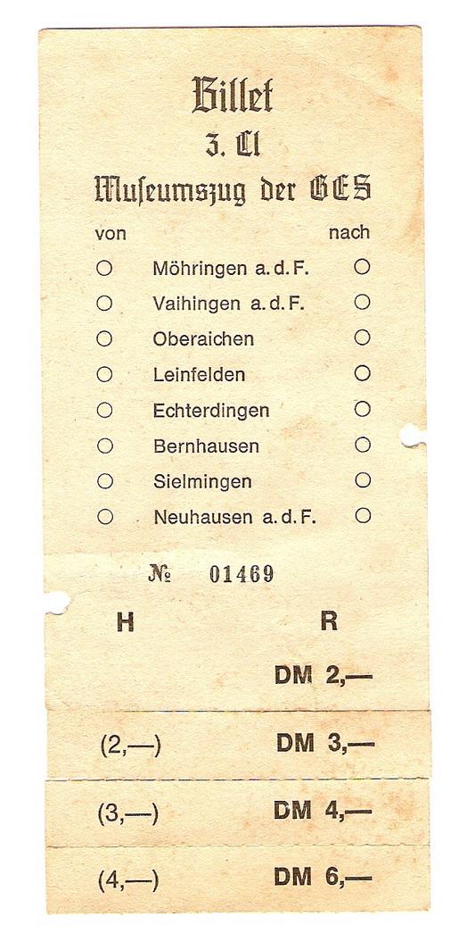 Dampfzügle zwischen Rudersberg und Welzheim Billet10