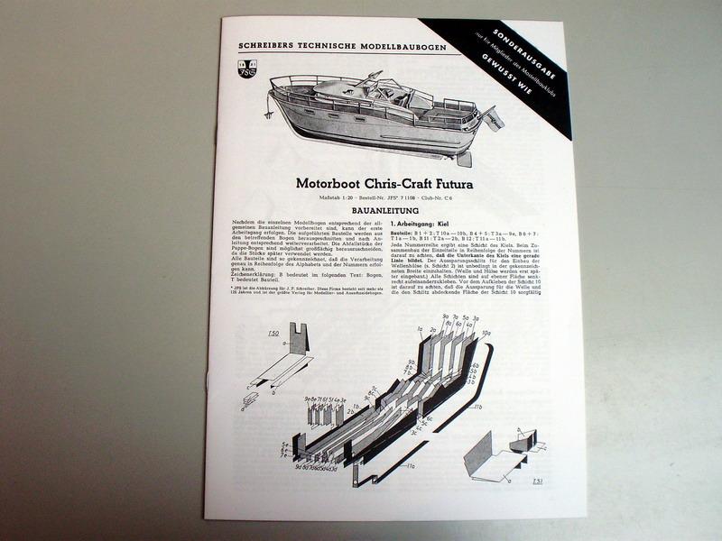 chris craft futura - Motorboot Chris-Craft Futura 1:20 (1959) Reprint Schreiber-Verlag (2009) Jfs_1010