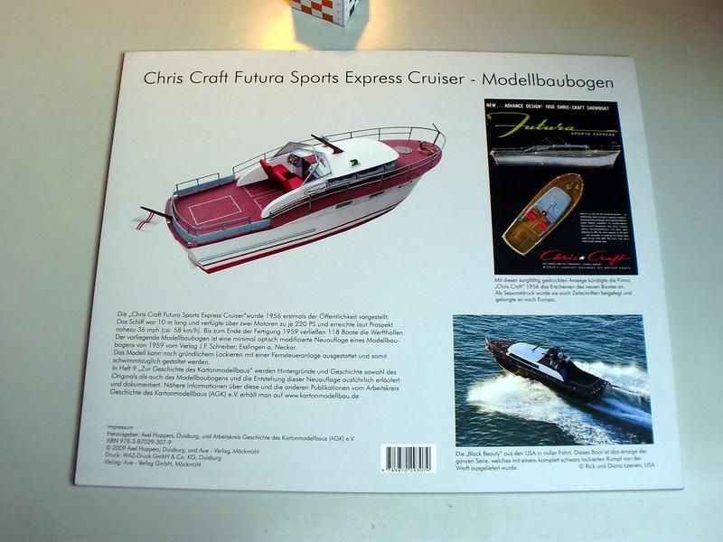 chris craft futura - Motorboot Chris-Craft Futura 1:20 (1959) Reprint Schreiber-Verlag (2009) Jfs_211
