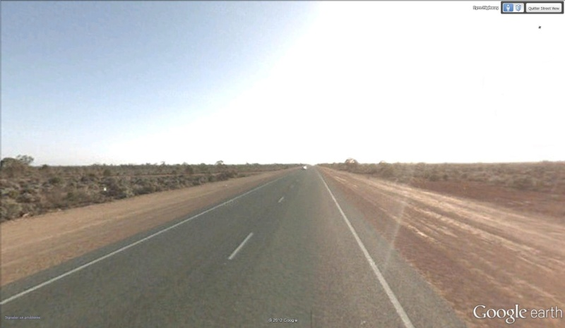 La plus grande route en ligne droite d'Australie Aus10