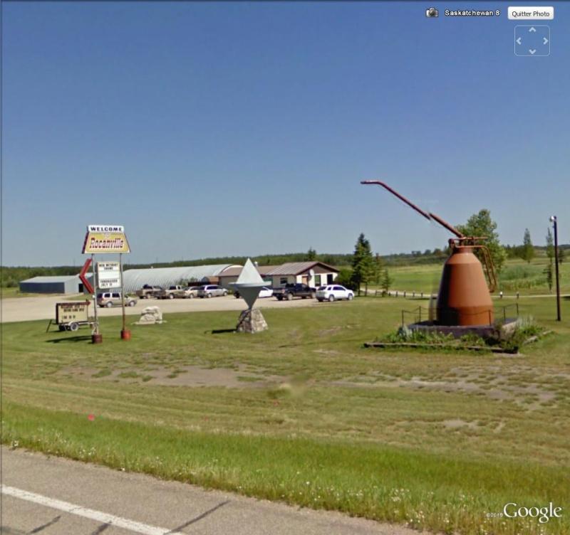 Burette à huile géante à Rocanville, Saskatchewan - Canada Bur110