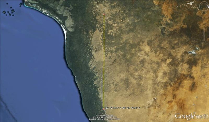 La plus grande route en ligne droite d'Australie Droit210