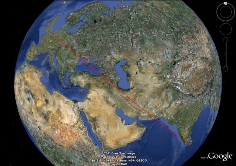Comment tracer un itinéraire sur une carte ? [Problème Google Earth résolu] Trajet10
