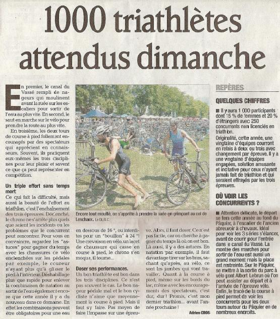 23 éme triathlon international du lac d'Annecy - Page 2 Articl10