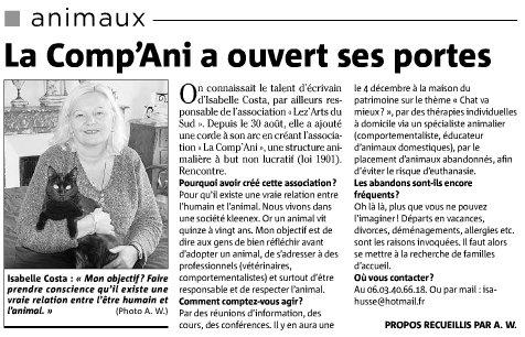 Article sur l'ouverture de LA COMP'ANI en 2008 6332_110