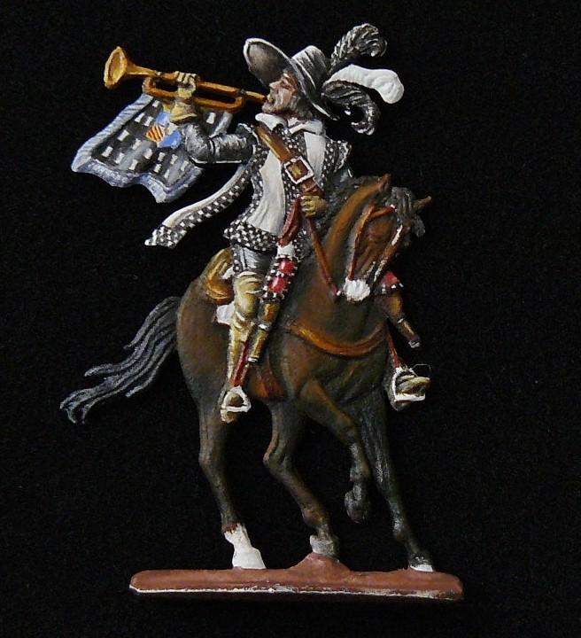 Trompette du régiment Turenne Cavaletie en 1641 d'après Benigni - 28mm 00110