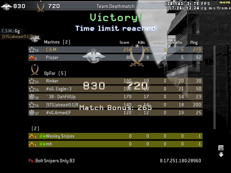 Crushed on Crossfire Cod4mp11
