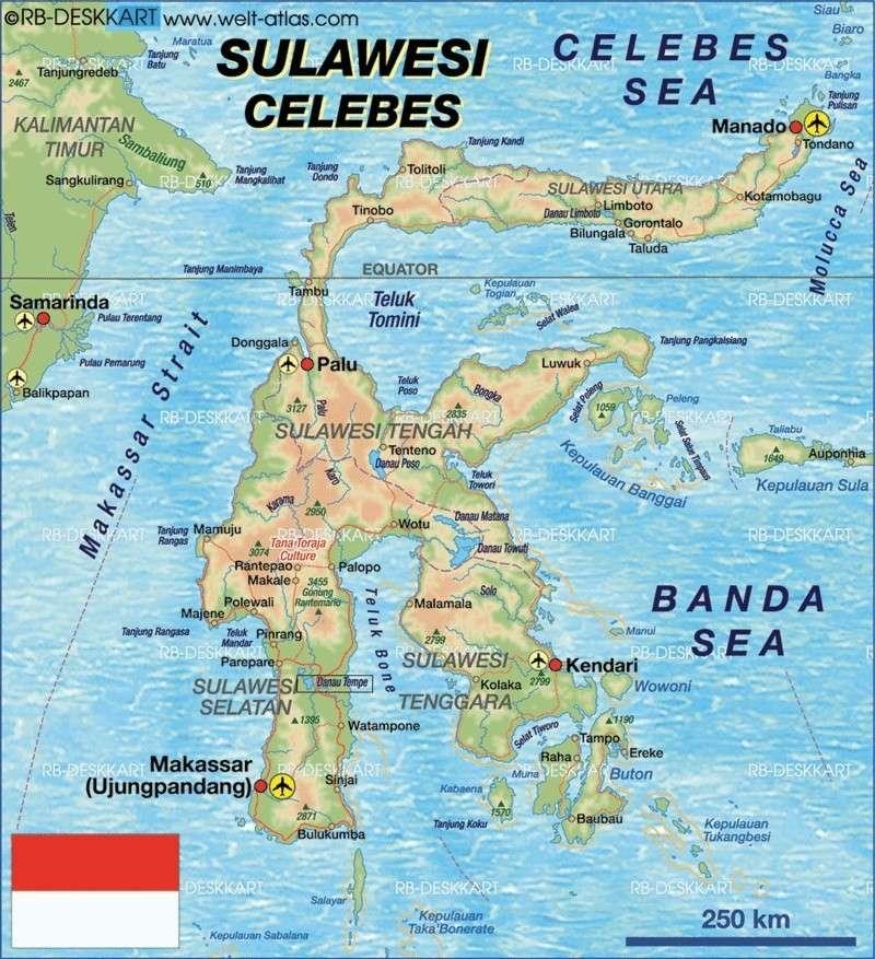 Lac Tempe Sulawesi  Carte12