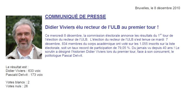 [ULB] Demission/Election du Recteur de l'Université Libre de Bruxelles Vivier10