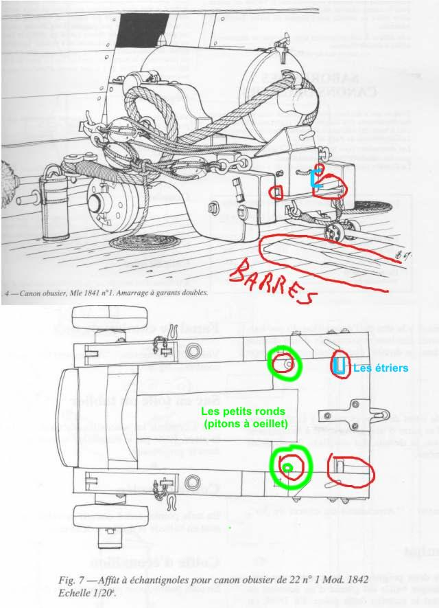 modèle de canon obusier 30 livres neapolitan 1 :18 Affut10