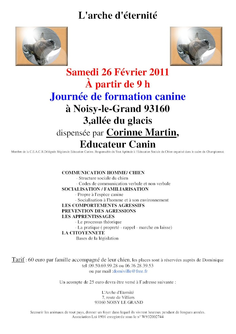 FORMATION CANINE DISPENSEE PAR CORINNE MARTIN - Page 2 Affich11