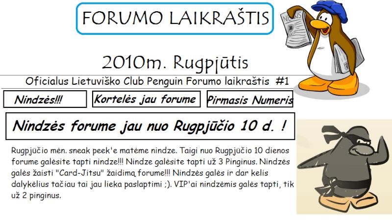 Oficialus forumo laikraštis #1 - 2010m. Rugpjūtis Forumo10