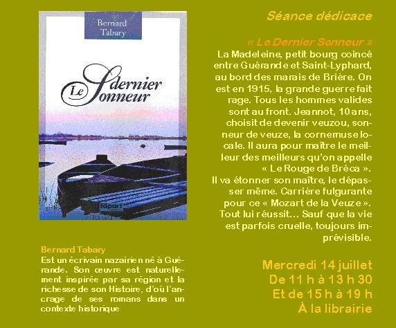 """Roman """"le dernier sonneur"""" (ndlr 'De veuze') de Bernard Tabary Le_der10"""