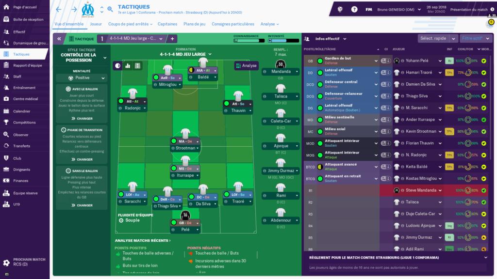 Composition 7ème journée de Ligue 1 avant Samedi 12h Fom10