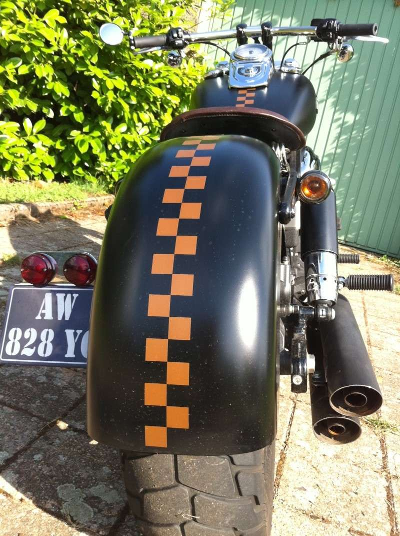 suppression du retro droit sur street bob Photos11