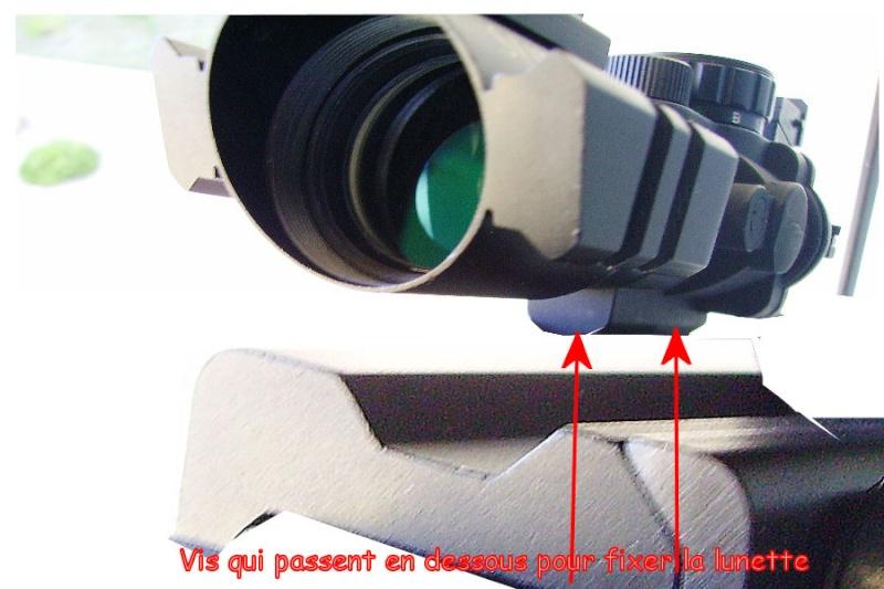 Solution pour adapter au mieux ma lunette sur le zoraki ? Zoraki18