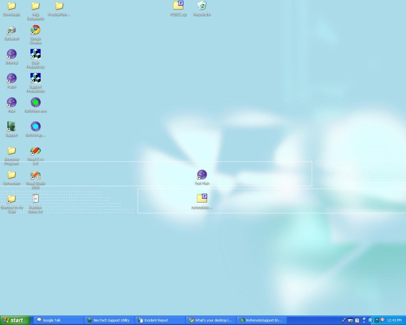 What's your desktop look like?  (Work or home) Mywork10