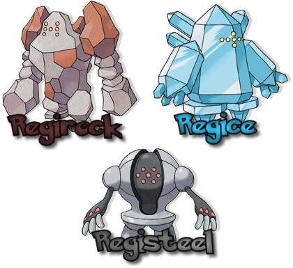 pokemones legendarios Regish10