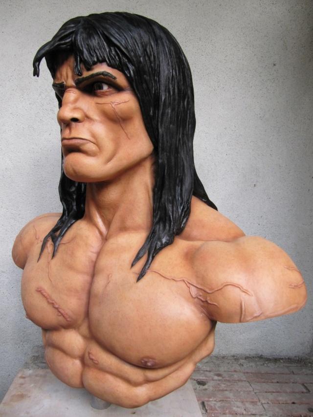 Buste Conan 1/1 sculpture par chloui . Img_7517