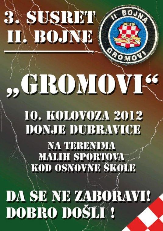 """Pozivnica - III susreti veterana/ sudionika domovinskog rata - pripadnika 2. bojne """"Gromovi"""" . Gromov10"""