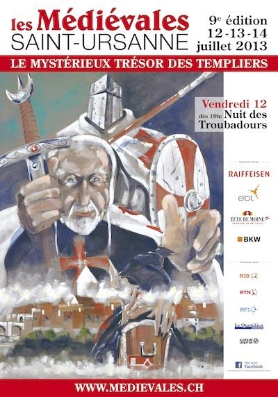 fête médiévale de Saint Ursanne le 12, 13, 14 juillet Affich10