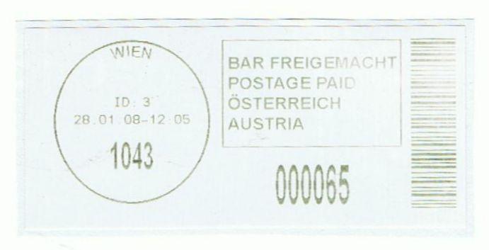 Bar-Codes in Österreich Wien1011