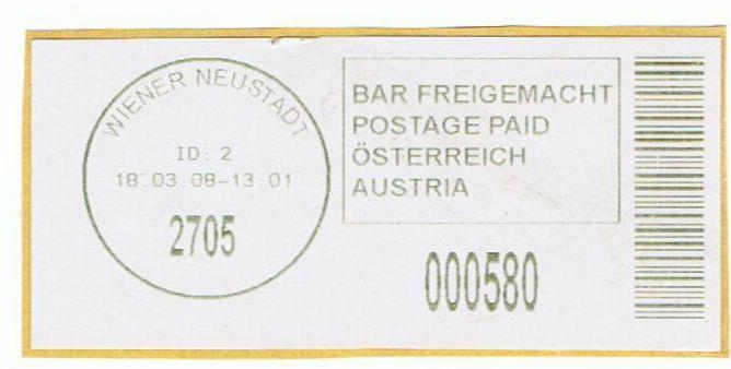 Bar-Codes in Österreich Wiener11