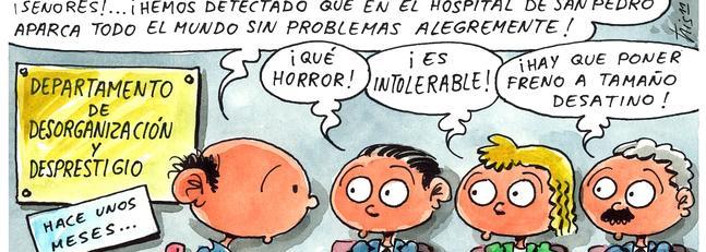Problemas de aparcamiento en el hospital San Pedro Chiste10