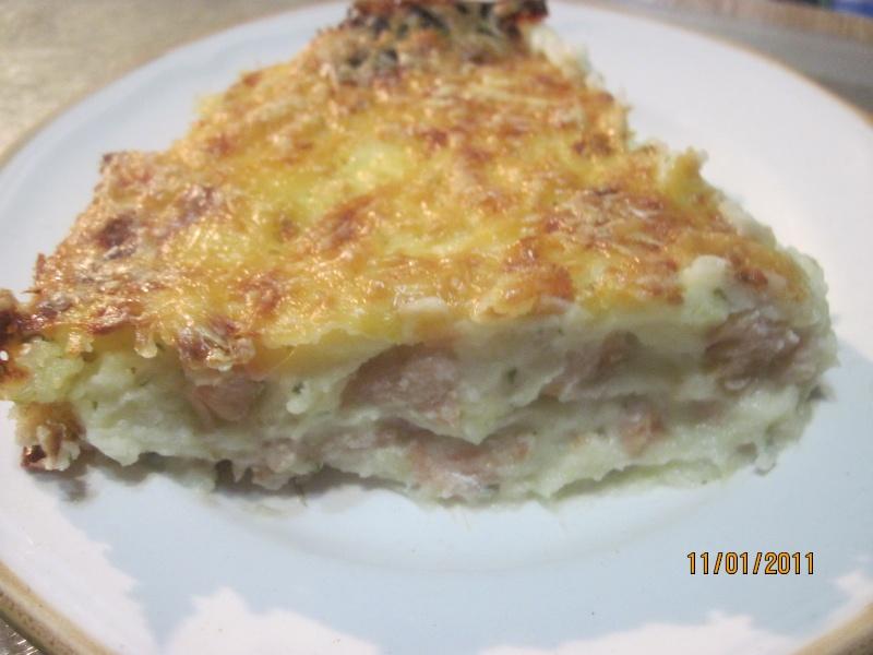 purée de pommes de terre au saumon rose gratinées.photos. Macmao11