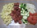 chorizo aux sautés de pommes de terre et de courgettes Muffin13
