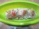 Papillote de Filet de Cabillaud aux Crustacés  Papilo21
