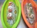 Papillote de Filet de Cabillaud aux Crustacés  Papilo23