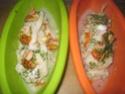 Papillote de Filet de Cabillaud aux Crustacés  Papilo26